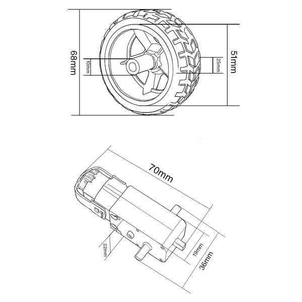 Motor ve Tekerlek Seti