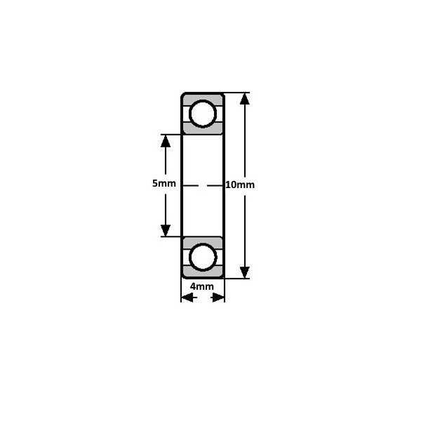 Rulman - MR105ZZ Minyatür Rulman