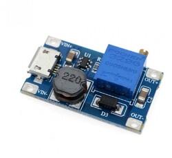 MT3608 2A Yükselteç DC-DC Güç Modülü Micro Usb Çıkışlı - Thumbnail
