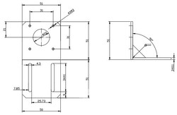 Nema 17 Step Motor Tutucu - Thumbnail
