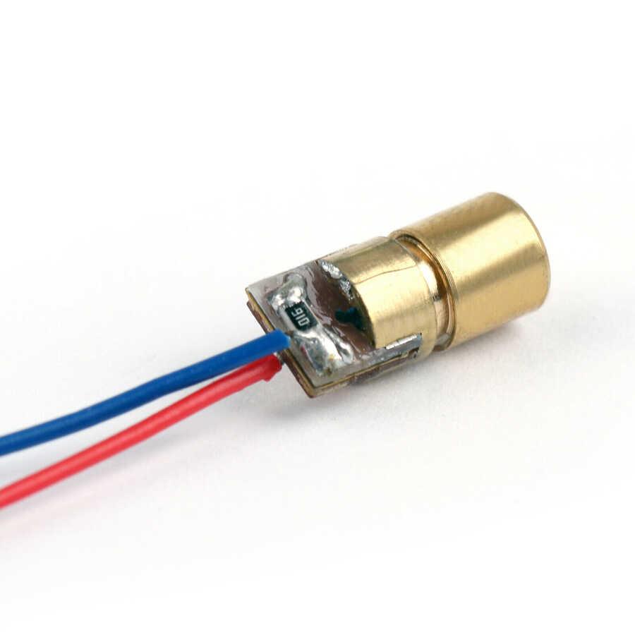 Nokta Kafalı Kırmızı Lazer Bakır 6mm 650nm 5mW