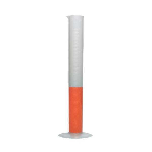 Laboratuvar Malzemeleri - Plastik Mezür Uzun Form 250ml - Kabartma Skala