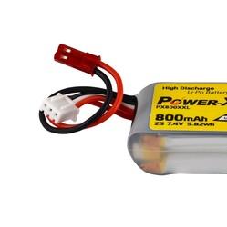 Power-Xtra PX800XXL 2S 7.4V 800 mAh(20C) Li-Po Pil - Thumbnail