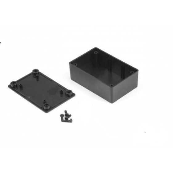 PR-040 Plastik Proje Kutusu - Montaj Kulaksız - Siyah