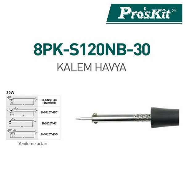 Proskit 30W Kalem Havya - 8PK-S120NB-30