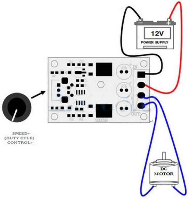 PWM DC Motor Hız Kontrol Devresi-6V-28VDC/3A