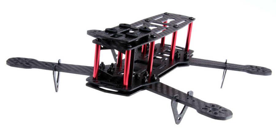 Drone Bileşen ve Yedek Parçaları - QAV250 Full Carbon Fiber 250mm Quadcopter Drone Gövdesi ZMR250