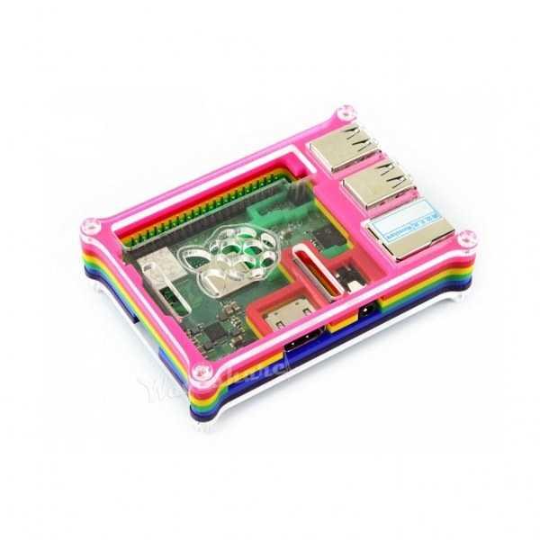 Raspberry Pi 3/2/B+ Gökkuşağı Case