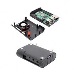 Raspberry Pi 4 Fan Case-Siyah - Thumbnail