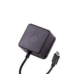 Raspberry Pi 4 Lisanslı Güç Adaptörü-5V/3A-Type C-Siyah - Thumbnail