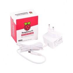 Raspberry Pi - Raspberry Pi 4 Lisanslı Güç Adaptörü-5V/3A-Type C-Beyaz