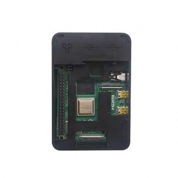 Raspberry Pi Kutu - Raspberry Pi 4 Siyah Muhafaza Kutusu