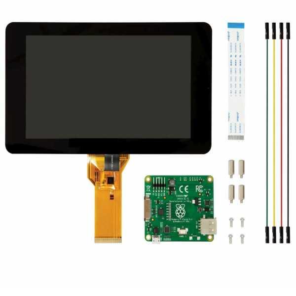 Raspberry Pi Aksesuar - Raspberry Pi 7 inch Resmi Dokunmatik Ekran
