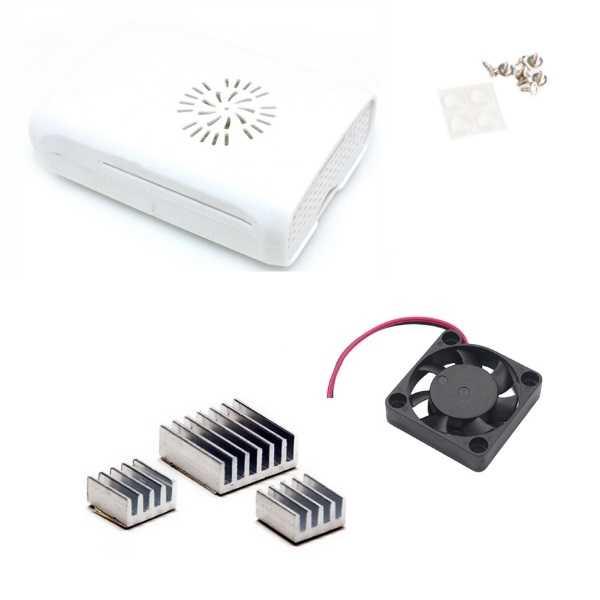 Raspberry Pi B+/2/3 Fan Case - Beyaz