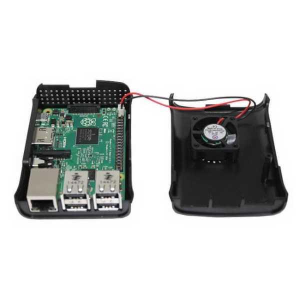 Raspberry Pi B+/2/3 Fan Case - Siyah