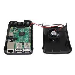 Raspberry Pi B+/2/3 Fan Case - Siyah - Thumbnail