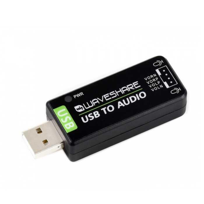 Çevirici - Dönüştürücü - Raspberry Pi / Jetson Nano İçin USB Ses Kartı