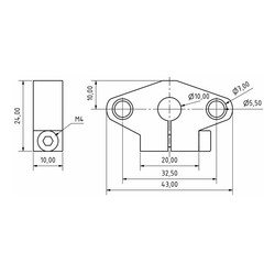 SHF10 Aluminyum Mil Tutucu - 10mm - Thumbnail