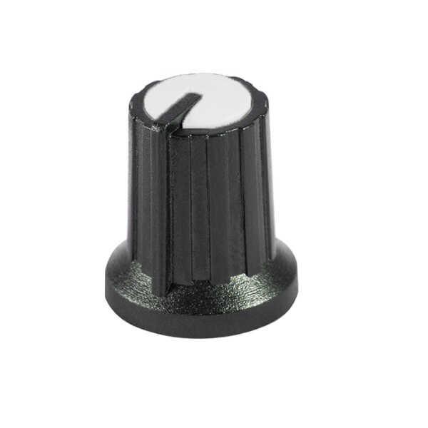 Siyah Potansiyometre Düğmesi (Beyaz Başlı)