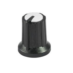 Siyah Potansiyometre Düğmesi (Beyaz Başlı) - Thumbnail