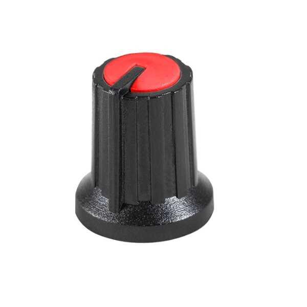 Siyah Potansiyometre Düğmesi (Kırmızı Başlı)