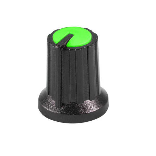 Siyah Potansiyometre Düğmesi (Yeşil Başlı)
