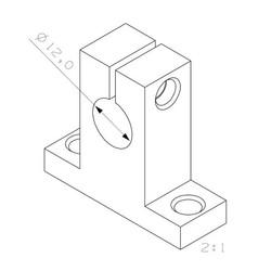 SK12 Aluminyum Mil Tutucu 12mm - Thumbnail