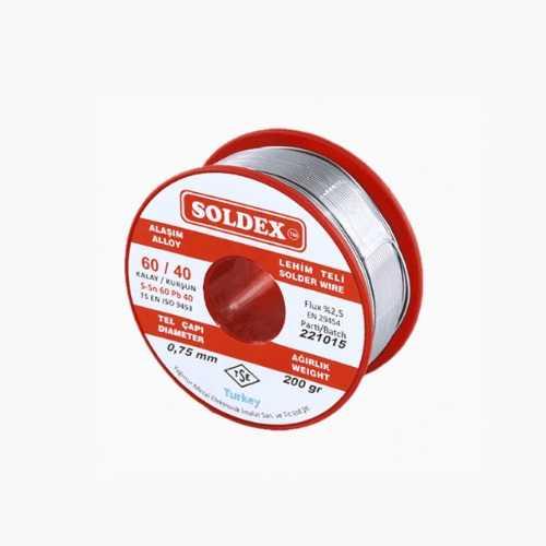 Soldex 0.75mm 200gr Lehim Teli