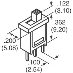 Switch Slide Spdt 3A 120V - Thumbnail