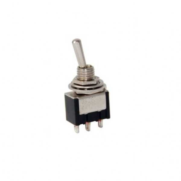 Toggle Switch ON-OFF-ON Ø6mm MTS-103-Siyah
