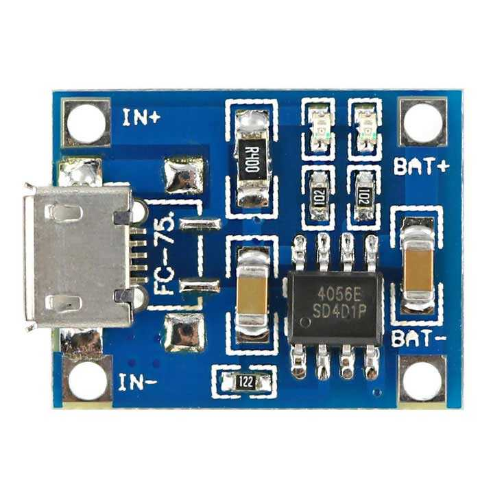 TP4056 1A Lityum Sarj Modülü