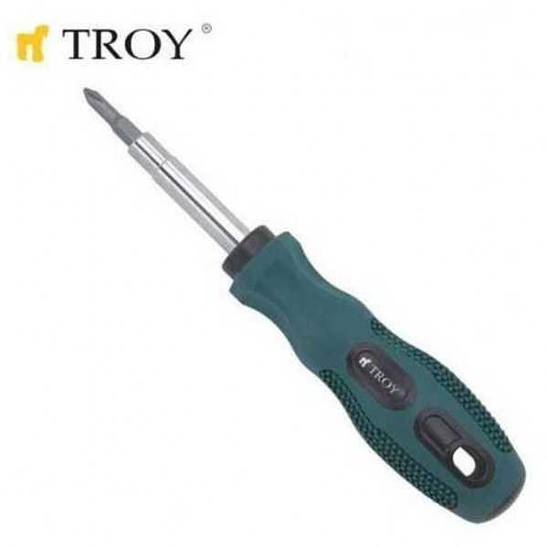 TROY 22002 Değişebilir Uçlu Tornavida - 6 in 1