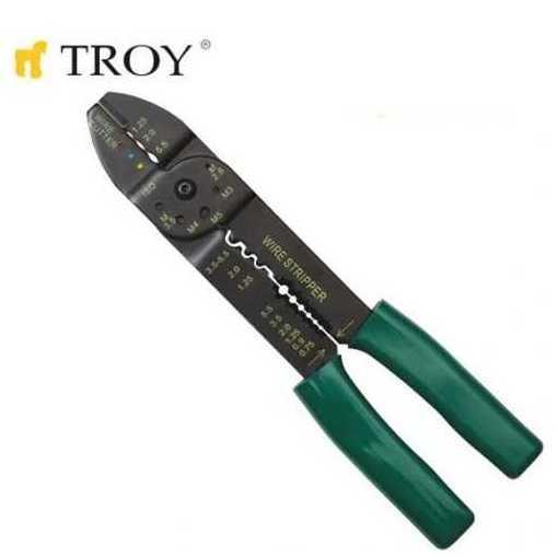 TROY 24006 Kablo Sıyırma-Pabuç Sıkma (225mm)