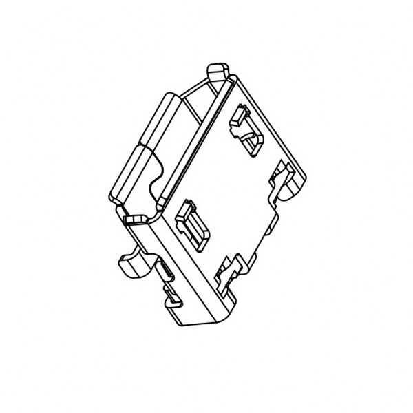 USB Micro B 5 Pin Smd
