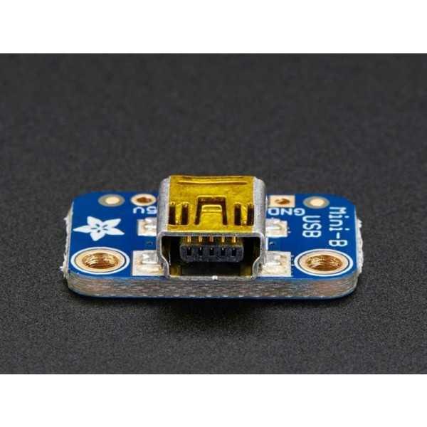 Konnektör - USB Mini-B Breakout Kart