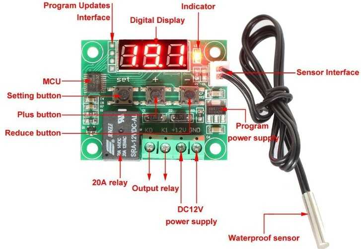 Termostat - W1209 Dijital Termostat