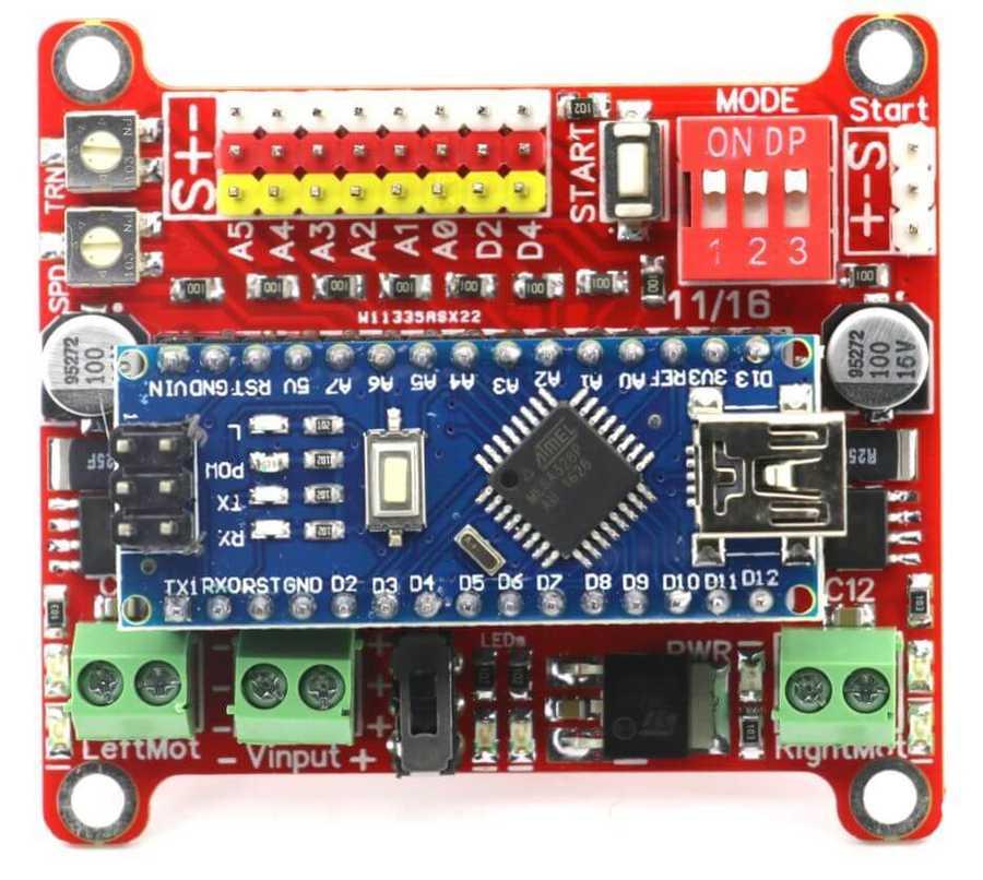 Wing Arduino Nano Robot Kartı (Çizgi İzleyen ve Minisumo Robot'a Özel)