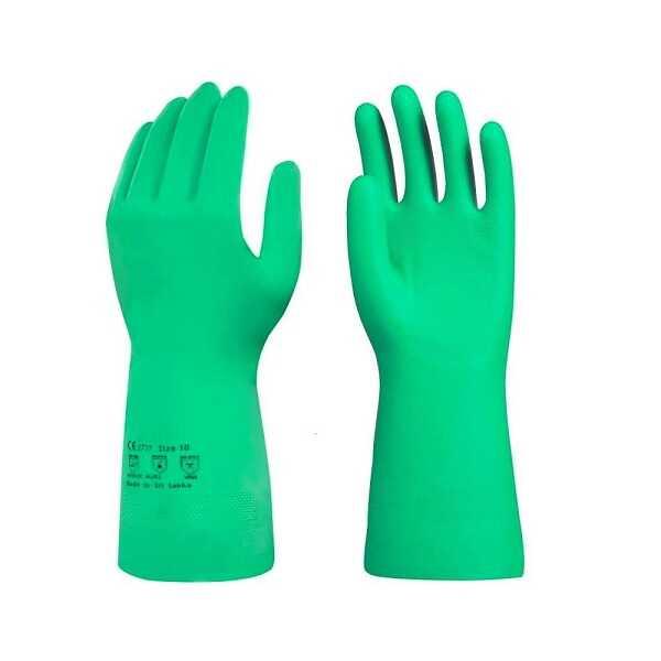 Atölye Malzemeleri - Yeşil Nitril Eldiven - Kimyasal Eldiveni - M Beden